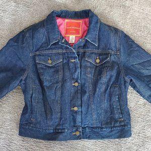 Isaac Mizrahi Lined Blue Jean Jacket